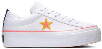 Converse One Star Canvas Platform Trainers