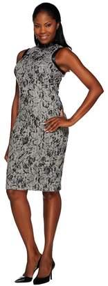 G.I.L.I. Got It Love It G.I.L.I. Novelty Lace Sweater Knit Sleeveless Sheath Dress