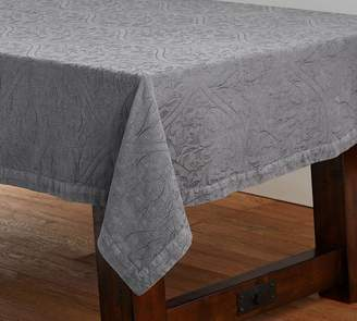 Pottery Barn Tonal Jacquard Tablecloth