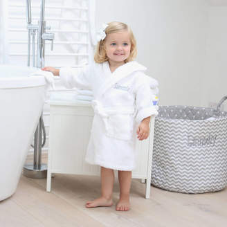 My 1st Years Personalised Embroidered White Cotton Hooded Bathrobe
