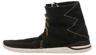 Visvim Suede Moccasin Ankle Boots
