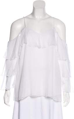 Alice + Olivia Cold-Shoulder Silk Blouse w/ Tags