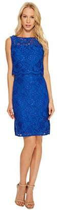 Ellen Tracy Women's Lace Popover Dress