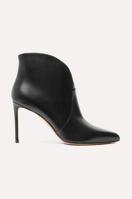 Francesco Russo Leather Ankle Boots - Black