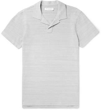 Orlebar Brown Felix Mélange Cotton-piqué Polo Shirt - Gray