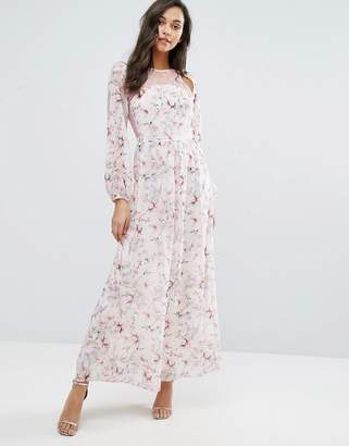 Miss Selfridge Lace And Floral Maxi Dress