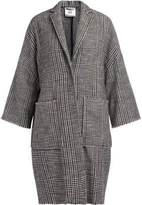 Semi-Couture Semicouture Sigmunt Mixed Wool Over Coat Principe Di Galles Pattern