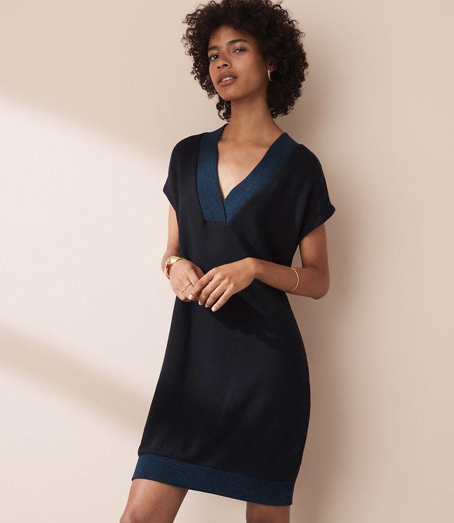 Lou & Grey Double V Dress