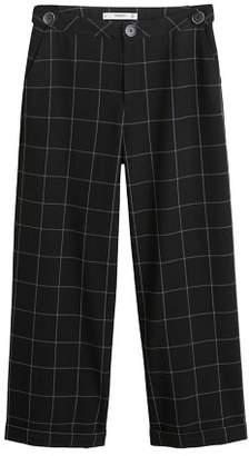 MANGO Check flare trousers