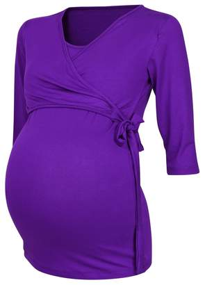 Happy Mama Boutique Happy Mama. Womens Maternity Nursing 2in1 Bolero Top Shirt 3/4 Sleeve. 458p (