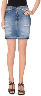 (+) People Denim skirts