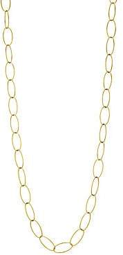 Milani Alberto Women's Via Brera 18K Yellow Gold Open Oval Chain Link Long Necklace