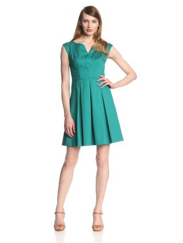 Jessica Simpson Women's Boat-Neck Dress with Piping Detail