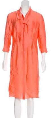 Rochas Silk Knee-Length Dress w/ Tags