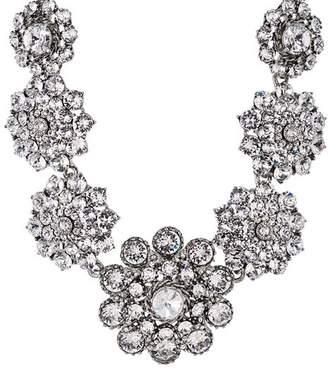 """Oscar de la Renta Pave Flower Statement Necklace, 16"""""""