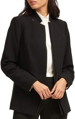 DKNY Long Sleeve One-Button Jacket