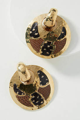 Gas Bijoux Desert Mosaic Hooped Post Earrings