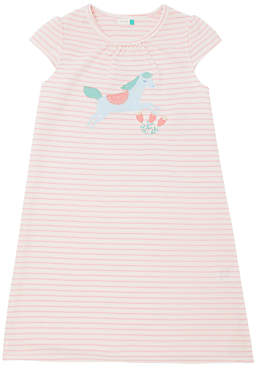 John Lewis & Partners Girls' Horse Print Night Dress, Pink