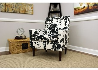 Newport Emma Arm Chair - Cowhide Black