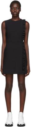 MSGM Black Sleeveless Ruffles Dress