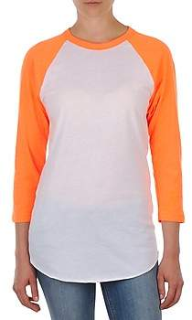 American Apparel UNISEX POLY-COTTON 3/4 SLEEVE RAGLAN