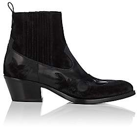 Barneys New York Women's Leather & Suede Western Ankle Boots - Black