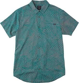 RVCA Men's Grid Short Sleeve Woven Shirt