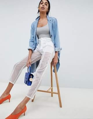 Asos Design DESIGN semi sheer trousers