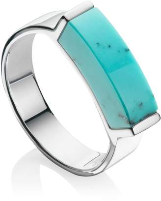 Monica Vinader Linear Turquoise Stone Ring