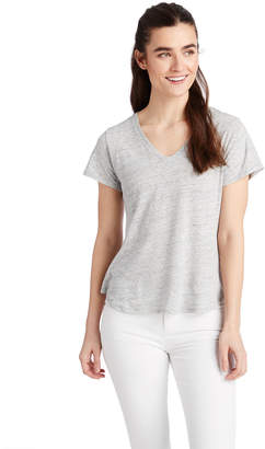 Vineyard Vines Heathered Linen Blend V-Neck Tee