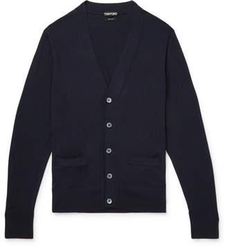 Tom Ford Merino Wool Cardigan - Men - Midnight blue