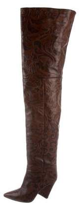 Isabel Marant Patterned Thigh-High Boots