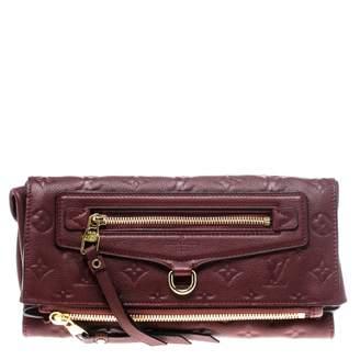 Louis Vuitton Burgundy Leather Clutch Bag