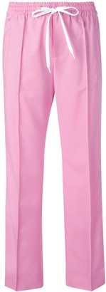 Miu Miu side stripe track trousers