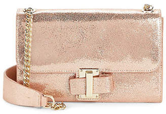 16e81228e0 Halston Convertible Metallic Leather Clutch