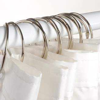 Generic 24Pcs(12x2pcs) Window Shower Curtain Rod Hook Rings Clamps Stainless Steel Anti-Rust Bathroom