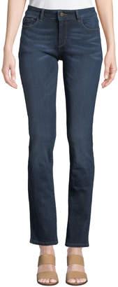DL1961 Premium Denim Mara Straight-Leg Instasculpt Jeans