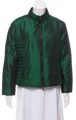 Armani Collezioni Satin Plissé Jacket