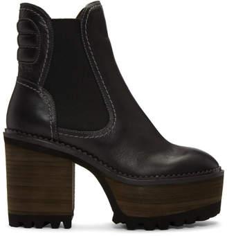See by Chloe Black Erika Heeled Boots