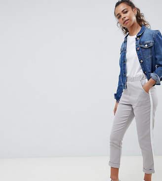 New Look Petite Stripe Side Pull On Pant