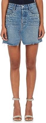 GRLFRND Women's Milla Embellished Denim Miniskirt