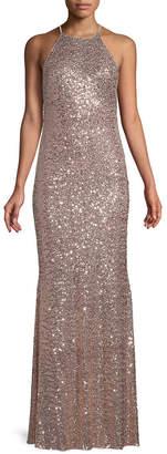Badgley Mischka Sequin Column Gown