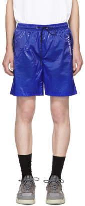 Filling Pieces Blue Translucent Track Shorts