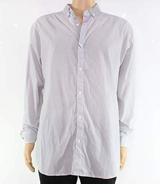 Armani Exchange A|X Men's Cotton Dye Striped Button up Shirt