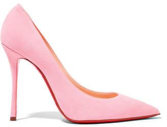 Christian Louboutin - Decoltish 100 Suede Pumps - Pastel pink $675 thestylecure.com