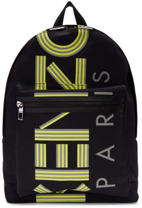 379a5d2b Kenzo Black Large Reflective Logo Backpack