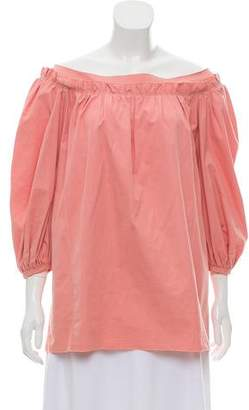 Marc Jacobs Off-The-Shoulder Long-Sleeve Blouse