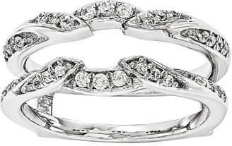 MODERN BRIDE 1/3 CT. T.W. Diamond 14K White Gold Ring Guard