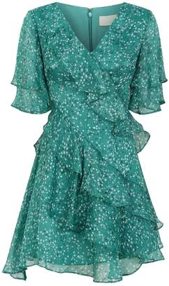 Keepsake The Label Genesis Floral Ruffle Dress