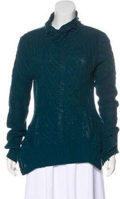 BCBGMAXAZRIA Cable Knit Long Sleeve Sweater